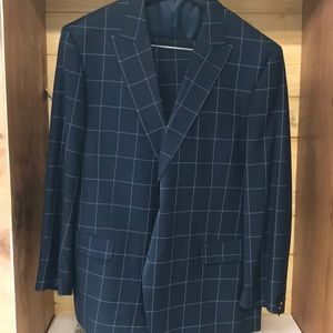 Other - Verno suit jacket & pants. Blue check R46/40 NWT